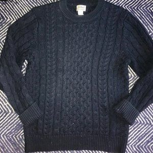 LL Bean Navy Fisherman's Sweater